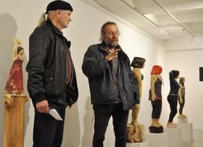 Impressionen der Vernissage am 12.Januar in der Galerie...