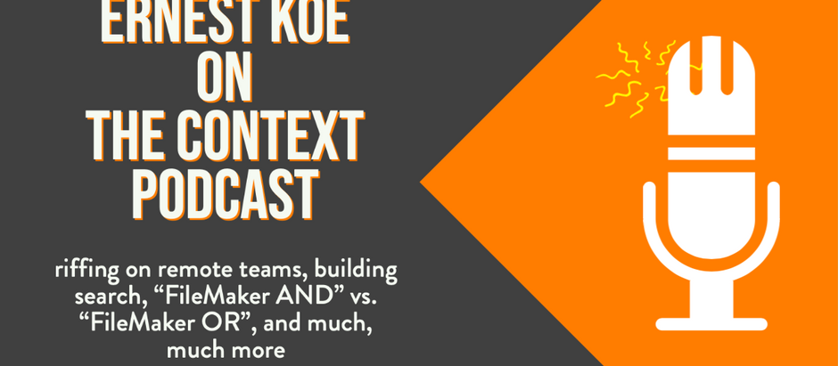 Ernest chats with The Context Podcast