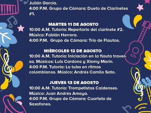 PROGRAMACIÓN musical BANDA MUNICIPAL DE MANIZALES