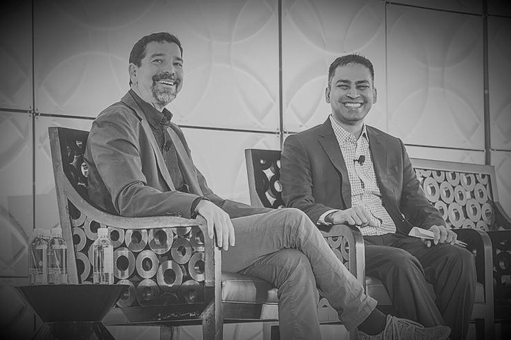 Oren Zeev and Gopi Rangan at INSEAD Americas Forum in San Francisco April 2018