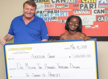 Honest Jamaican woman who returned millions found at ATM gets $1.2m reward