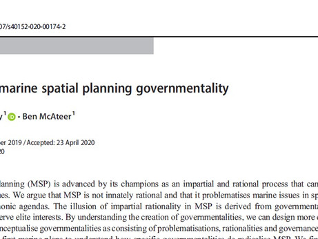 NEW PAPER: Assessing MSP governmentality