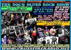 Bur-Doc Blues-Rock Poster, Crossfire Radio