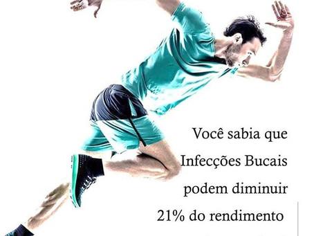 Infecção Bucais podem diminuir 21% do rendimento de um atleta?