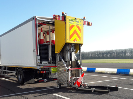Highway Care Automated Cone Laying Machine unveiled