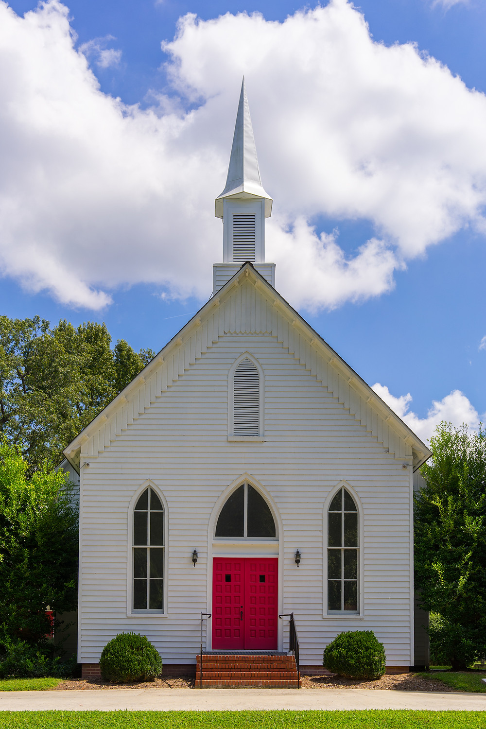 It seems that every other road in NC leads to a church.  This one is less than two miles away. Simple, yet elegant. I love the symmetry.