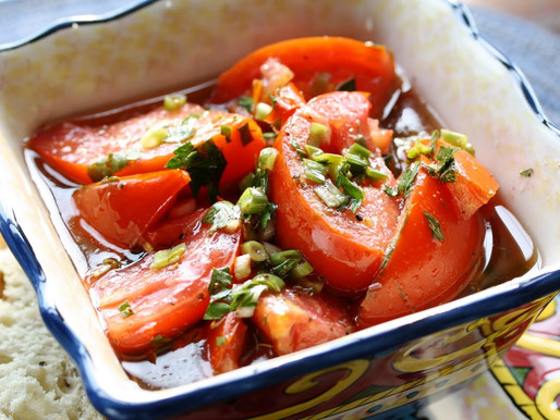 Marinated Tomatoes: Robinette Family Recipe