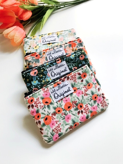 tiny coin purses - floral print