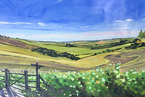 'Across The Downs to Seaford' on Mirror and Card Holder style