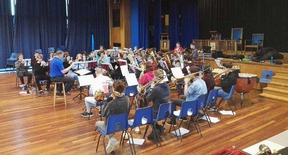 GYBB on day one of the two-day music course
