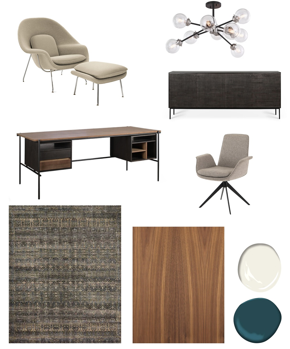 mid centurly modern inspired home office ideas