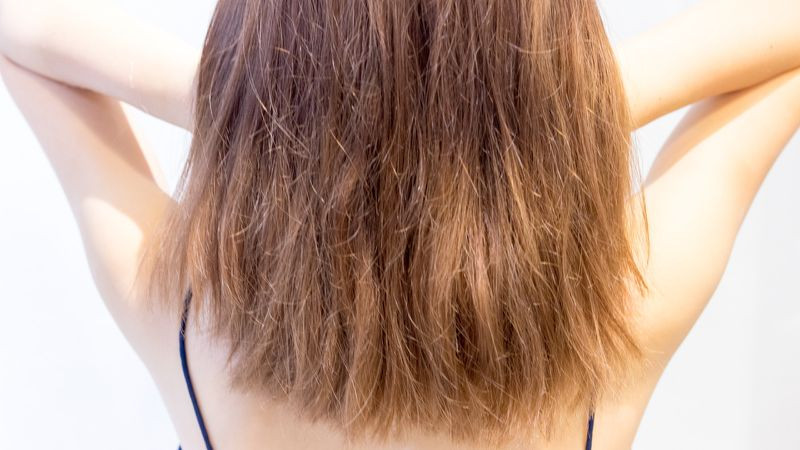 Bleached hair damage