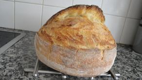 Λευκό προζυμένιο ψωμί (πιό λευκό δεν γίνεται) με γάλα.
