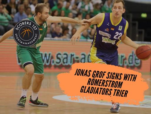 Jonas Grof joins Römerstrom Gladiators Trier