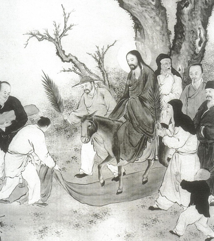 A Chinese artist's view of the Triumphal Entry, from the Christ We Share image collection.
