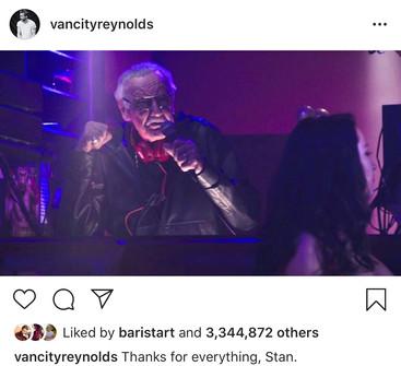 Stan Lee in Ryan Reynolds Instagram (Source: @vancityreynolds Instagram)