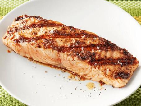 Salmon with Olive Vinaigrette