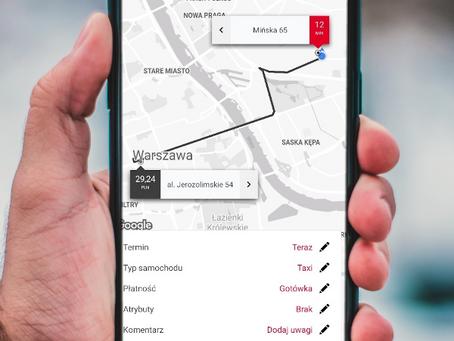Aplikacja PolsTaxi