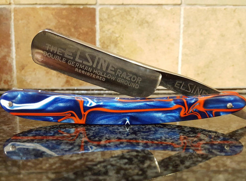A beautiful Elsine razor with custom patriot scales. Already On its way to one lucky customer!