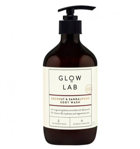 glow lab coconut & sandalwood body wash