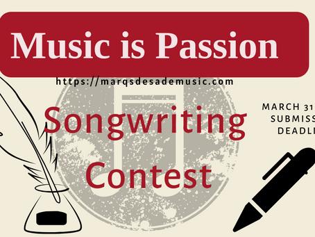 Songwriting Contest Winner!