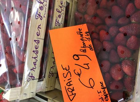 6€49 BARQUETTE FRAISE🍓 (1kg) (👉soit 6€49€🤗/kg)  www.marcheprixplus.com/info