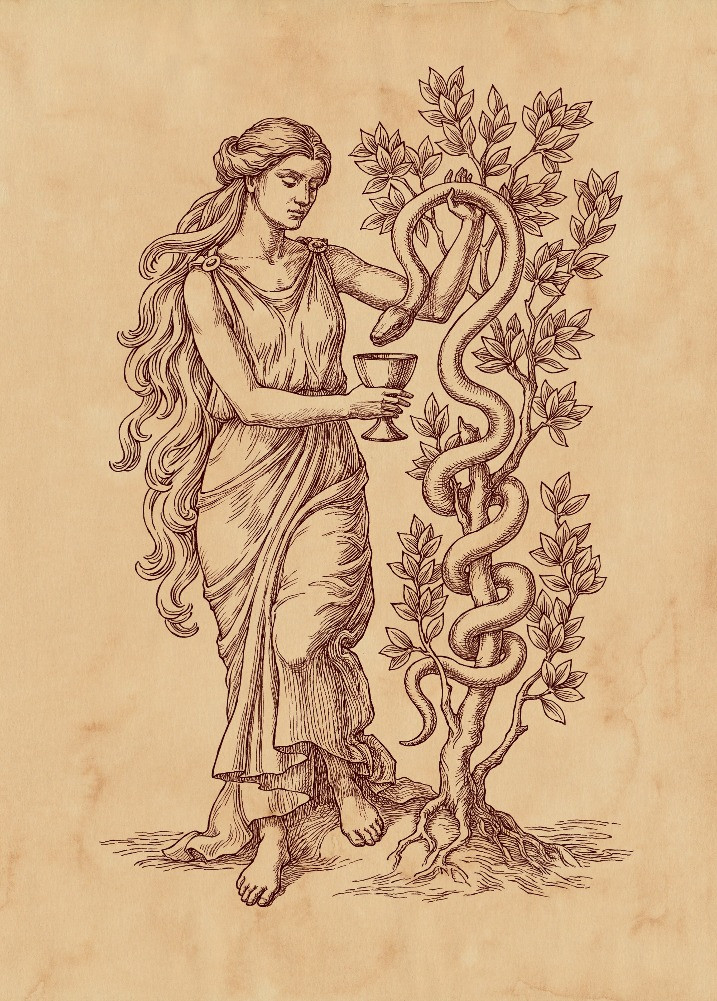 Goddess of Medicine Hygieia, By Barashkova Natalia