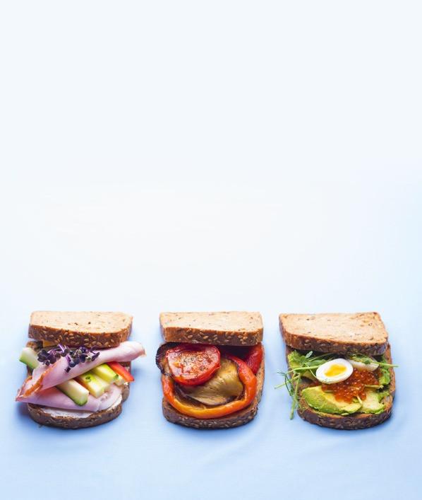 Sumuštiniai, su kumpiu, su avokadu, su baklažanais ir pomidorais, traškios daržovės, Alfas Ivanauskas
