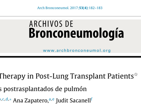 Does high flow therapy play a role in lung transplantation?