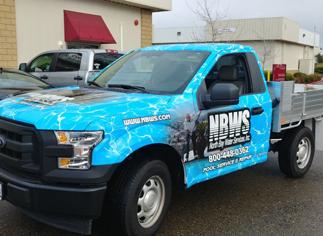 North Bay Water Systems Cab Wrap for their new chemical truck