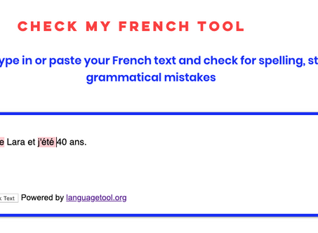 New language corrector tool. Check French spelling for free!