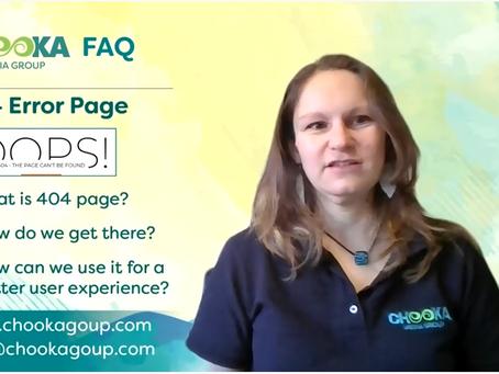 FAQ on 404 Error Page
