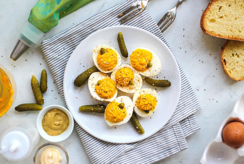 uova alla diavola alla zucca ricetta facile brunch