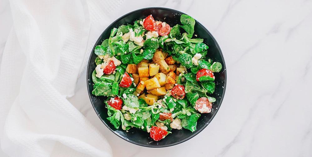 Idée salade : pomme de terre fêta