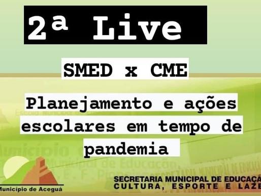 Secretaria de Educação realiza nova live nesta quinta-feira