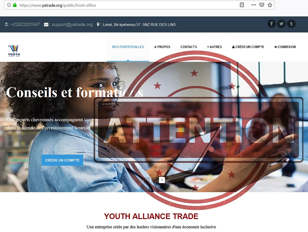 Youth Alliance Trade AVIS