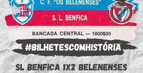 #BilhetesComHistória SL Benfica x CF Os Belenenses 1989