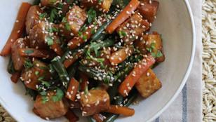 Tempeh alla piastra con Salsa Agrodolce (Ricetta Vegan e Senza Glutine)