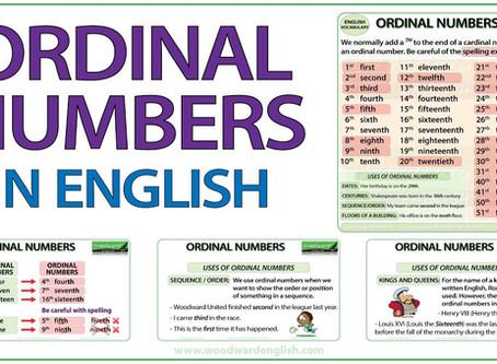 İngilizce Sıralı Sayılar
