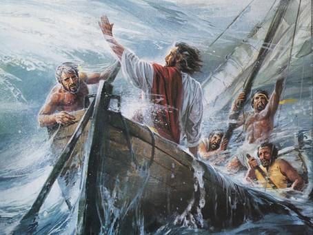 Jesus Calms the Storm Mark 4:35-40, Matthew 8:23-27,  Luke 8:22-25
