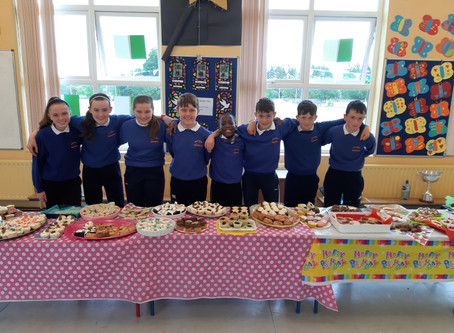 6th Class Cake Sale 2019 in aid of Crumlim Hospital. Fantastic Success.