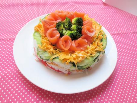 ひな祭り・ケーキ寿司 1