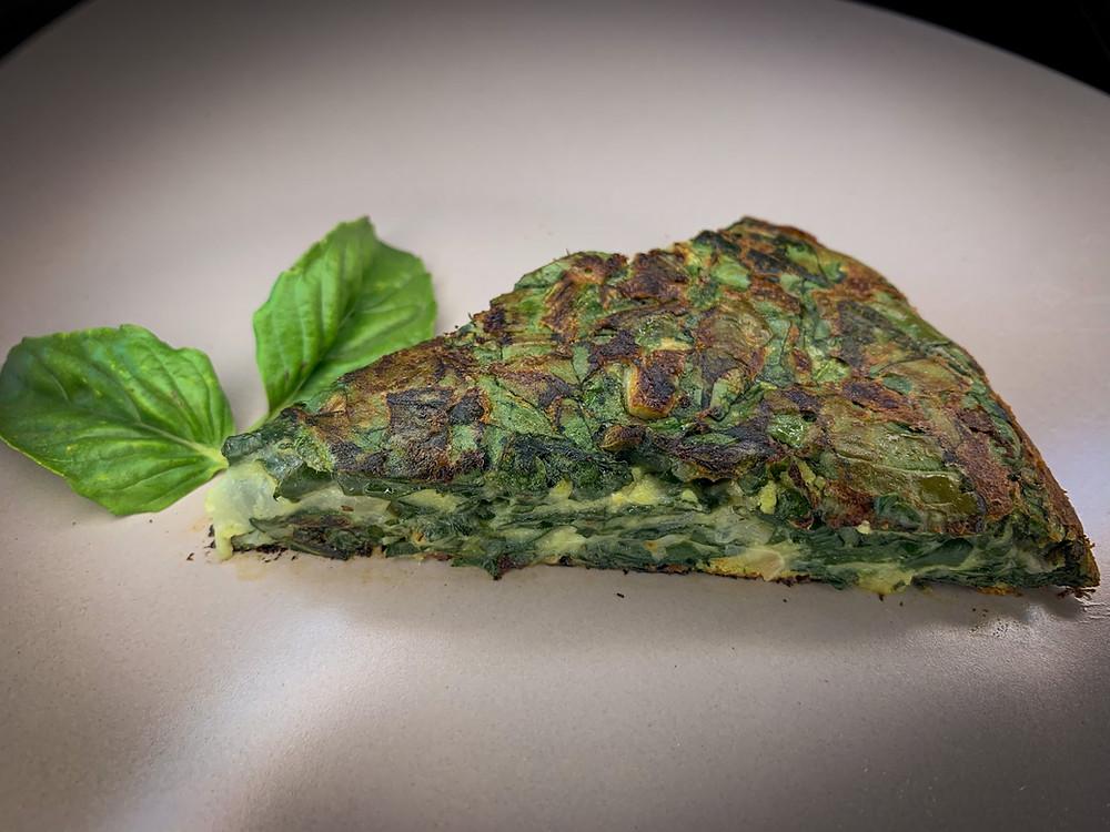 Tortilla de espinaca - Nutricionista Vegetariana Karina Herrera