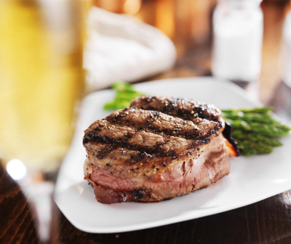 carne, bistecca, vino