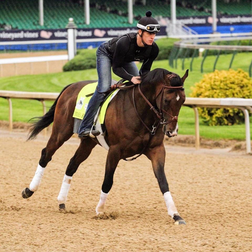 Omaha Beach, the favorite for the Kentucky Derby, scratched due to entrapped epiglottis.