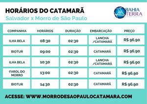 Horarios do catamarã de Salvador para Morro de São Paulo