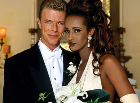 David Bowie & Iman 1992 Florence, Italy