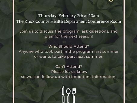 Edible Knox Info Meeting!