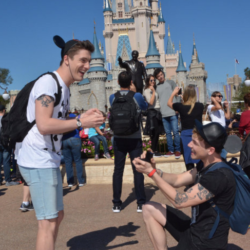 Two Princes And Their Fairytale Proposal At Disneyland