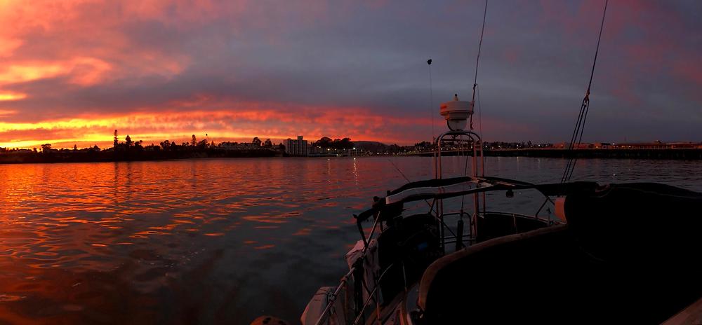 Santa Cruz Anchorage at Sunset